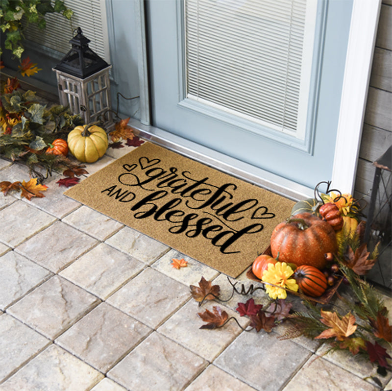Thanksgiving Doormats | Grateful and Blessed | Doormats Direct