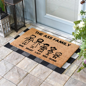 Funny Doormats | The Ass Family | Doormats Direct