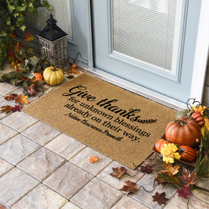 Thanksgiving Doormats | Give Thanks | Doormats Direct