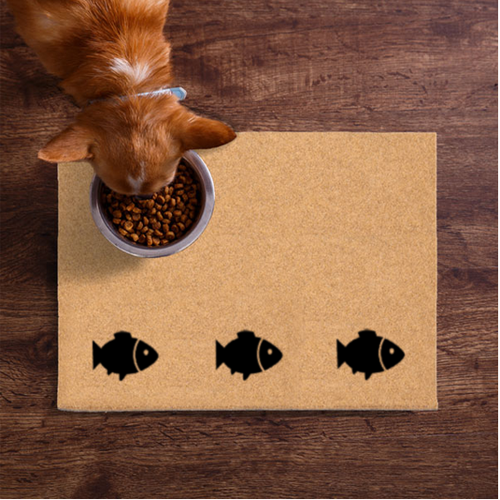 Pet Mats | Fish On The Bottom Cat Non-Personalized | Doormats Direct