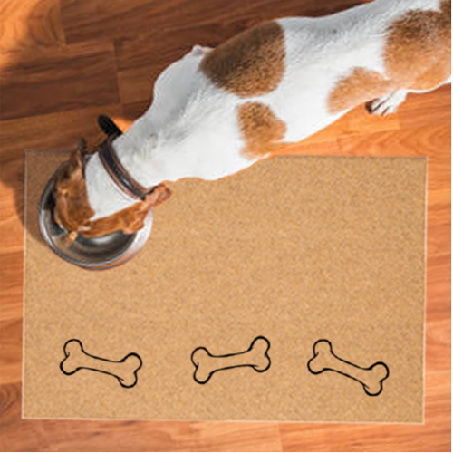 Pet Mats | Dog Bones On The Bottom Non-Personalized | Doormats Direct