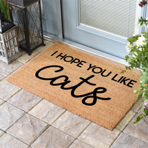 Funny Doormats | Hope You Like Cats | Doormats Direct