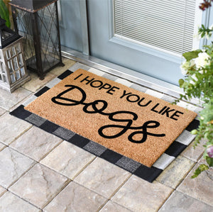 Funny Doormats | Hope You Like Dogs | Doormats Direct