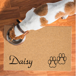 Pet Mats | Paw Prints Personalized | Doormats Direct