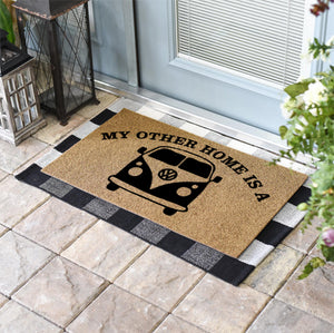 Funny Doormats | My Other Home Is A VW Bus | Doormats Direct