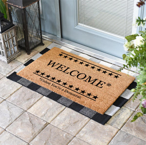 Funny Doormats | Welcome To Our Bipartisan Household | Doormats Direct