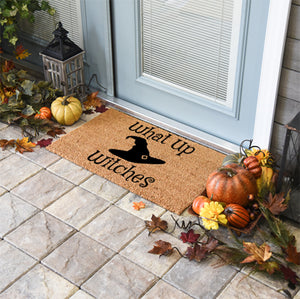 Halloween Doormats | What Up Witches | Doormats Direct