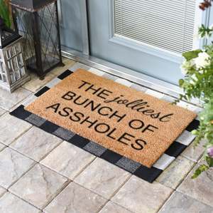 Christmas Doormats | Jolliest Bunch of Assholes | Doormats Direct