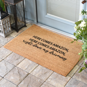 Christmas Doormats | Here Comes Amazon | Doormats Direct