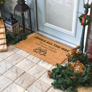 Christmas Doormats | Jingle All The Way No One Likes A Half Assed Jingler | Doormats Direct