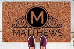 Personalized Doormats | Homestead Scroll Monogram | Doormats Direct