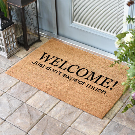 Funny Doormats | Welcome Don't Expect Much | Doormats Direct