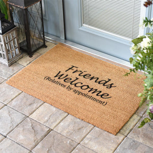 Funny Doormats | Friends welcome relatives by appointment | Doormats Direct