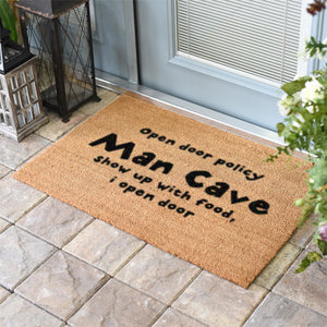 Funny Doormats | Man Cave Open Door Policy | Doormats Direct