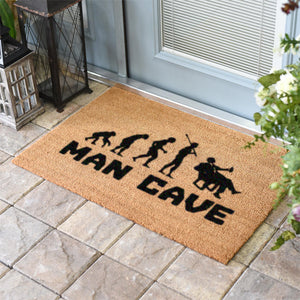 Funny Doormats | Man Cave Evolution | Doormats Direct