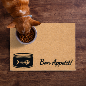 Pet Mats | Bon Appetit - Cat Fish Bones Non-Personalized | Doormats Direct