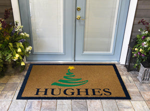 Christmas Doormats | Christmas Tree Personalized DuraColor Inlay | Doormats Direct