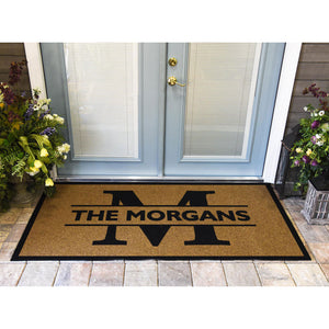 Duracoir Inlay Personalized | Monogram + Name Duracoir Inlay | Doormats Direct