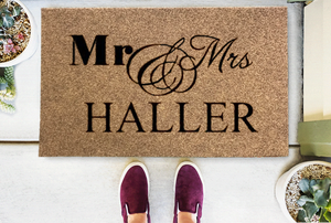 Personalized Doormats | Mr & Mrs | Doormats Direct