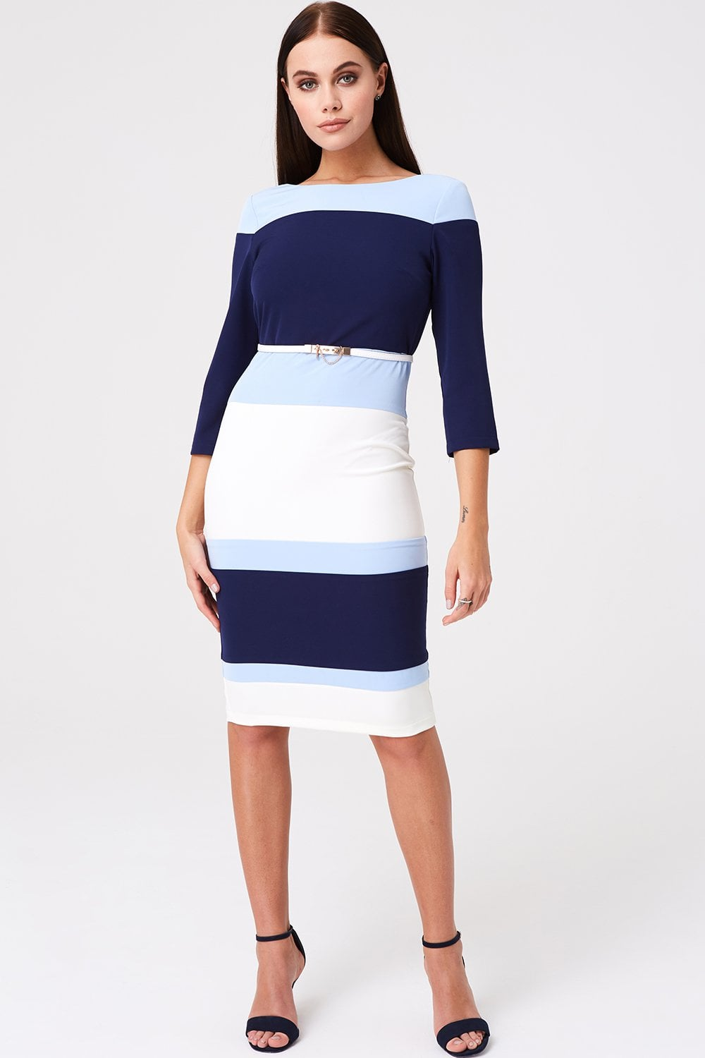 Paper Dolls Callow Blue Colour Block Dress