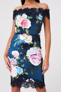 Paper Dolls Pembroke Rose Floral Bardot Dress