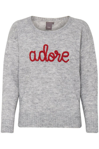 Ichi 'Adore' Grey Jumper