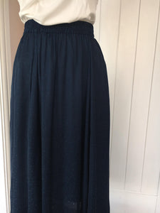 Ichi Navy Chilla Skirt
