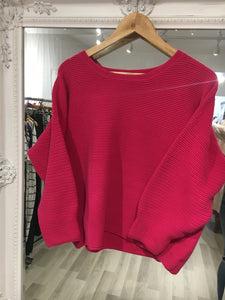 French Connection Prosecco Pink Ribbed Jumper