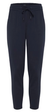 Ichi Kate Navy Cropped Trousers