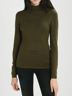 Ichi Mafa Khaki Polo Neck