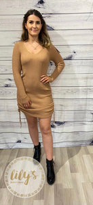 Zoey Ruched Knitted Dress