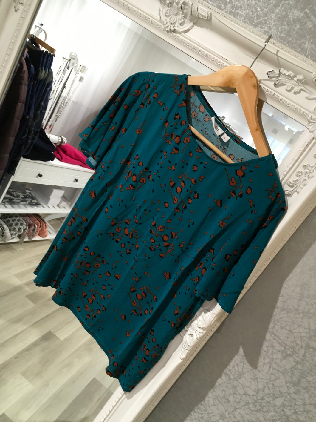 Saint Tropez Teal Patterned Blouse