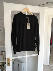 Ichi Dafnie Black Sweater with Frill Detail