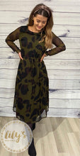 Ichi Inger Leopard Print Midi Dress