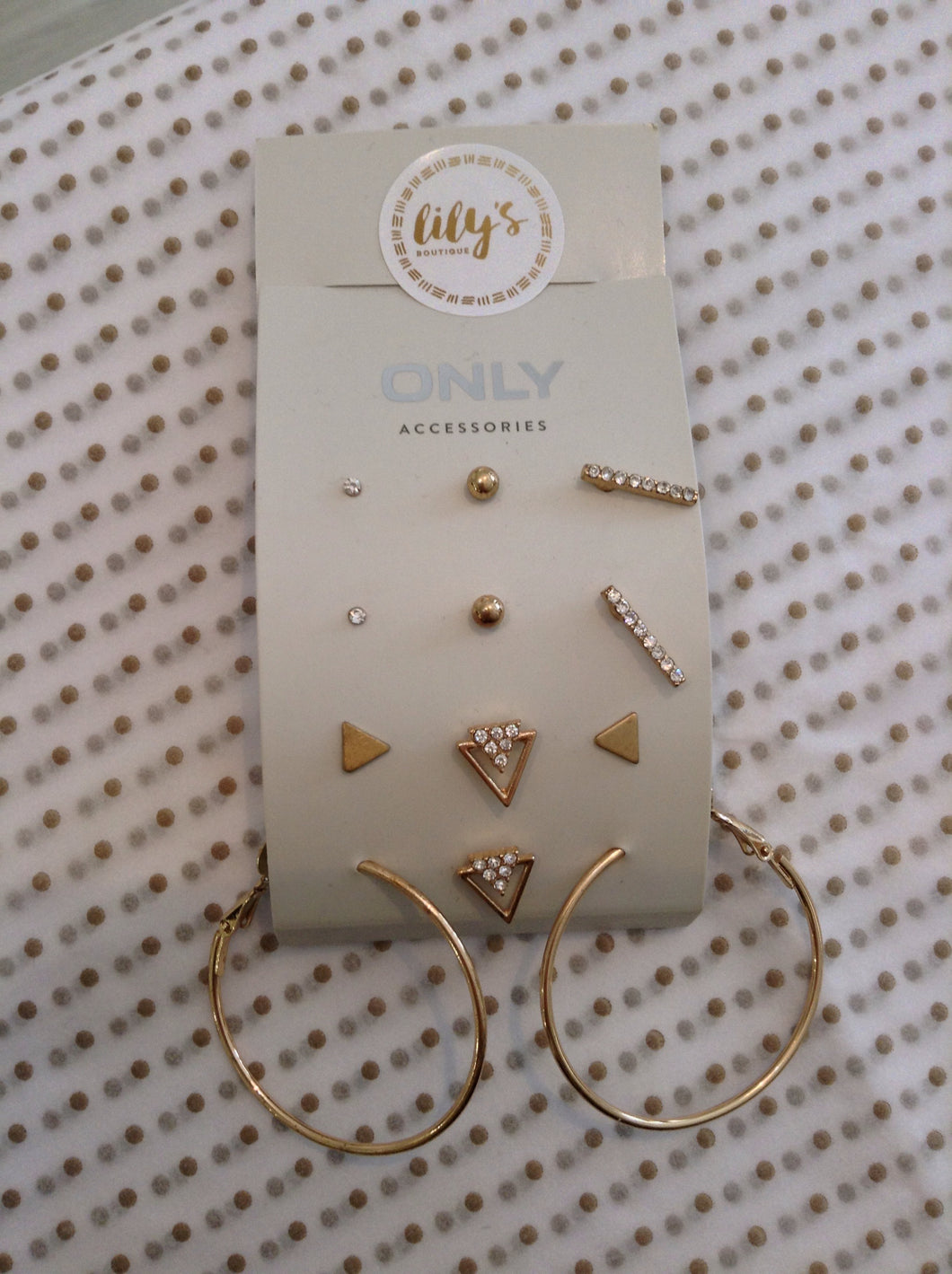Only Earrings Set With Hoop