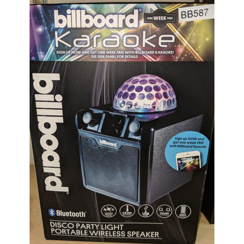Wholesale-Billboard BB587 Portable Party Speaker w Lights-Bluetooth Audio-Bil-BB587-Electro Vision Inc