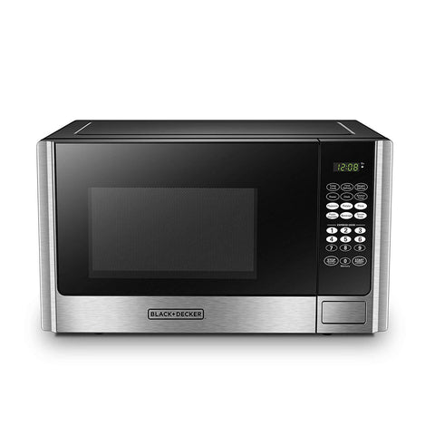 Wholesale-Black + Decker EM925 Microwave Oven 0.9 CF Stainless Steel-Microwave Oven-BD-EM925-Electro Vision Inc