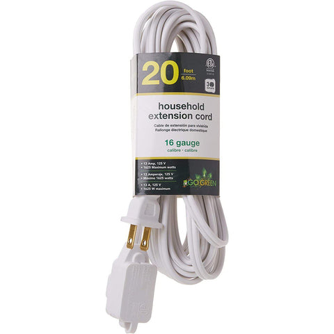 Wholesale-GoGreen 24720 Extension Cord - 20 FT-Power Outlet-GG-24720-Electro Vision Inc