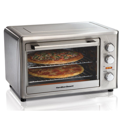Wholesale-Hamilton Beach 31100 Convention/Rotessarie Oven White-Toaster Oven-HB-31100-Electro Vision Inc