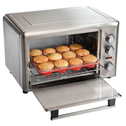Wholesale-Hamilton Beach 31103 Convention/Rotessarie Oven Stainless Steel-Toaster Oven-HB-31103-Electro Vision Inc