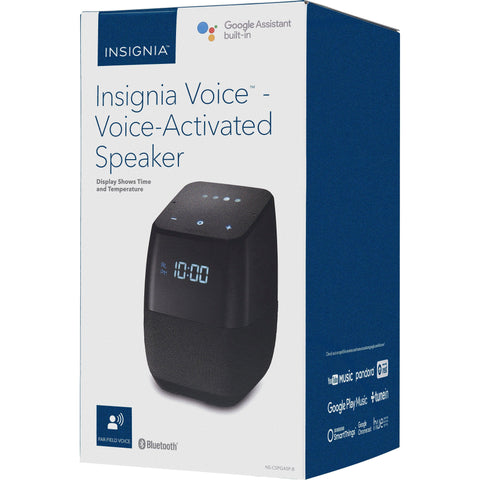 Wholesale-Insignia NSCSPGASPB Voice Activated Smart Bluetooth Speaker with Google Assistant-Bluetooth Audio-INSIGNIA-Electro Vision Inc