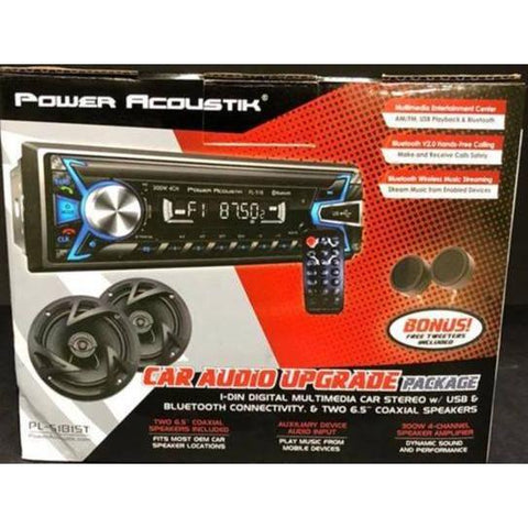 "Wholesale-POWER ACOUSTIK PL51BST Single-DIN Mechless Detachable Bluetooth w/ SD/USB Playback + 2 SPEAKERS 6.5""-Car Audio-PA-PL51BST-Electro Vision Inc"