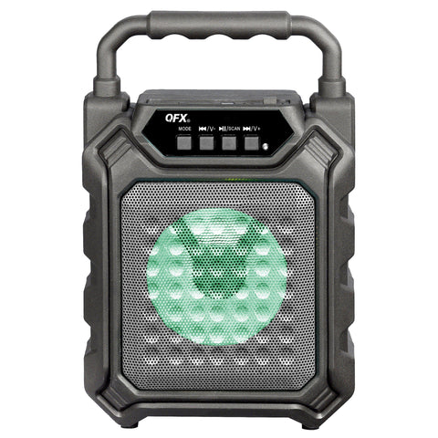 "Wholesale-QFX PBX2 4"" Rechargeable Portable Party Speaker w Light-Bluetooth Audio-QFX-PBX2-Electro Vision Inc"