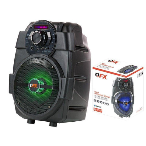 "Wholesale-QFX PBX5 6.5"" Rechargeable Party Speaker Bluetooth/USB/FM Player-Speaker-QFX-PBX5-Electro Vision Inc"