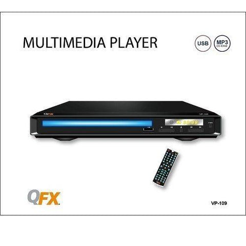 Wholesale-QFX VP109 Region-Free DVD Player (NTSC/PAL)-DVD Player-QFX-VP109-Electro Vision Inc