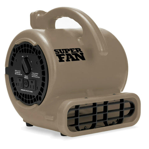 Wholesale-Super Fan Home Personal Portable High Velocity Air Mover Floor Fan GRAY-Fans-Sol-SuperFan-Electro Vision Inc