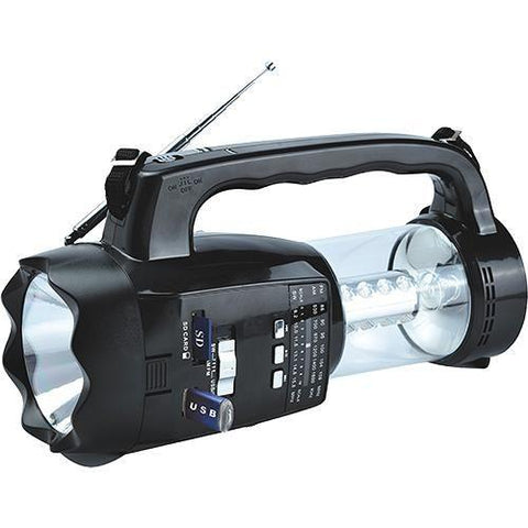 Wholesale-Supersonic SC1093 3 Band Radio w Flashlight and USB-Boombox Radio Alarm-Sup-SC1093-Electro Vision Inc
