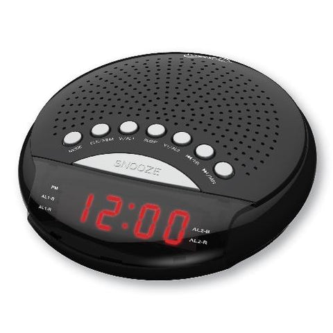 Wholesale-Supersonic SC380 Dual Alarm Clock Radio-Alarm Clock-Sup-SC380-Electro Vision Inc