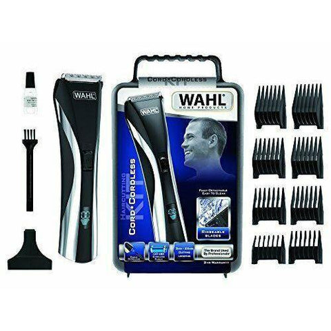 Wholesale-Wahl 9697-101 Hybrid Clipper Hair & Beard Cutting Kit 100-240v-Beauty and Grooming-Wah-9697-101-Electro Vision Inc