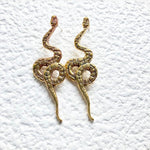 Brass Serpent Earrings